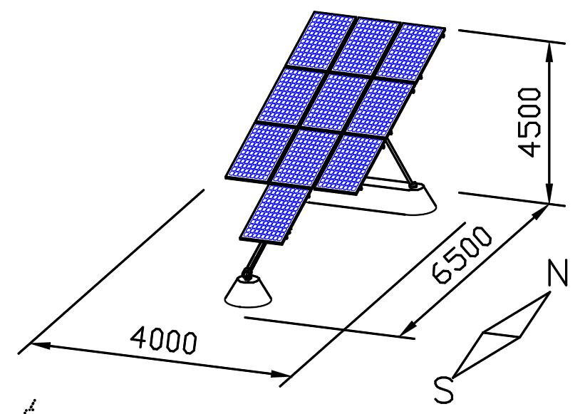 single axis solar tracker