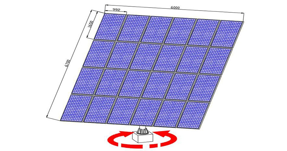 P24 dual axis solar trackers