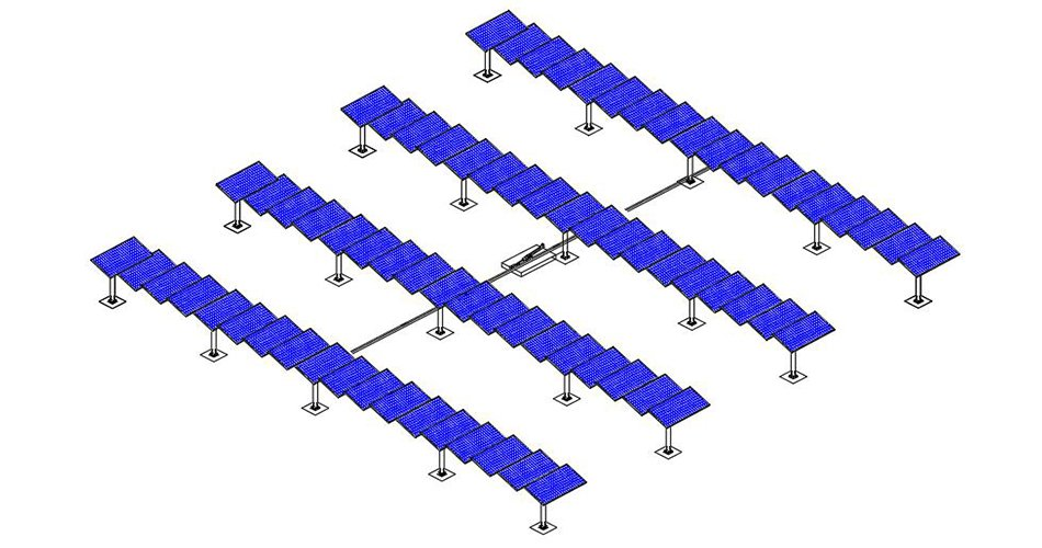 P64 single axis solar trackers