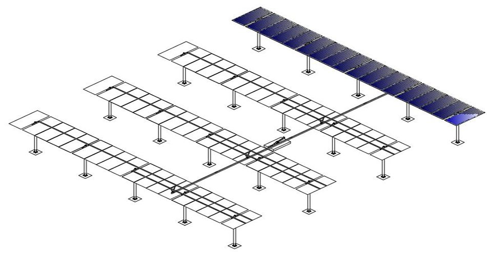 Single axis solar tracking system