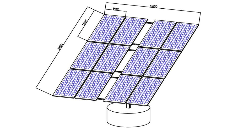 P12 dual axis solar trackers