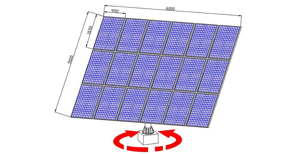 P18 dual axis solar trackers